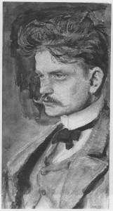 Watercolour of Sibelius by Finnish painter Akseli Gallen-Kallela
