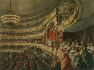 Mihaly Zichy - Performance at the Bolshoi Theatre