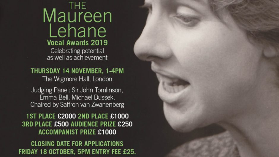 Entries open for the Maureen Lehane Vocal Awards