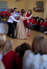 Cinderella Dress Rehearsal with a local school