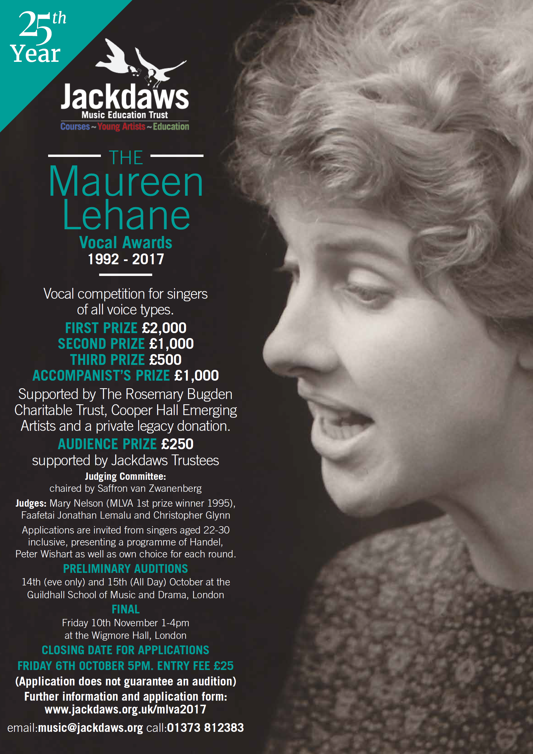 Maureen Lehane Vocal Awards 2017