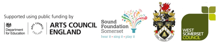 Supported by Arts Council England, Sound Foundation Somerset, Frome Town Council and West Somerset Council.