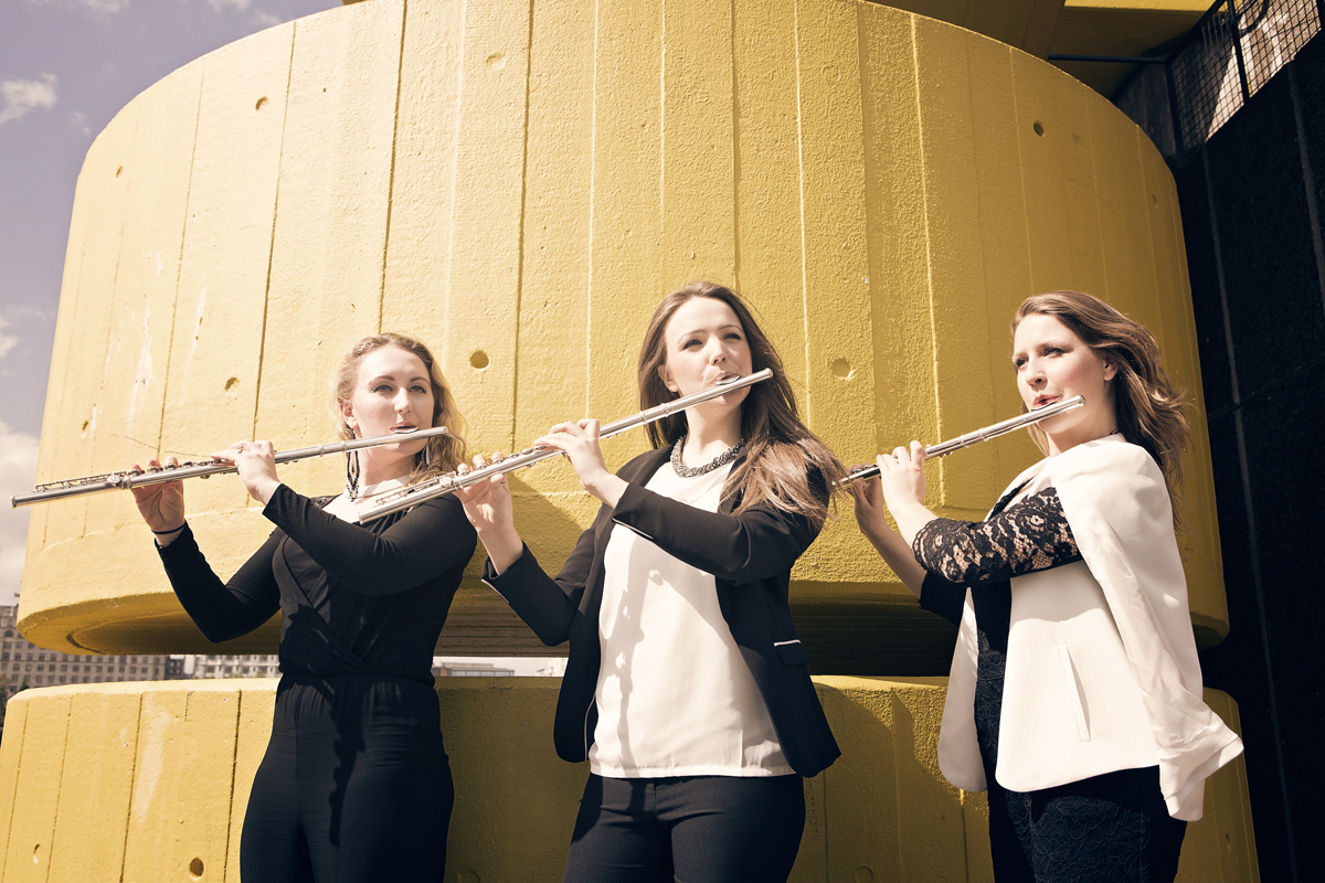 Tempest Trio in Jackdaws Year of Flute
