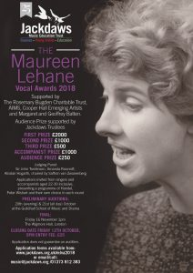 Maureen Lehane Vocal Awards Information