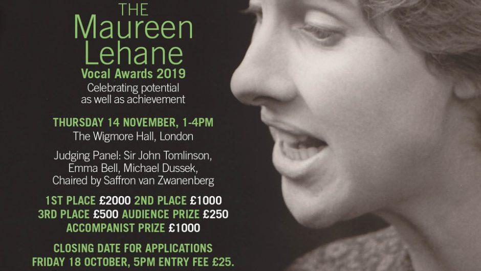 Entries open for the Maureen Lehane Vocal Awards