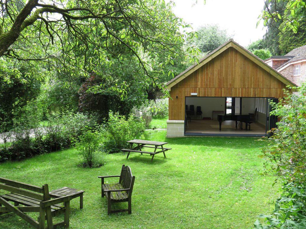 The Lehane Wishart Studio opens out onto the Rose Garden