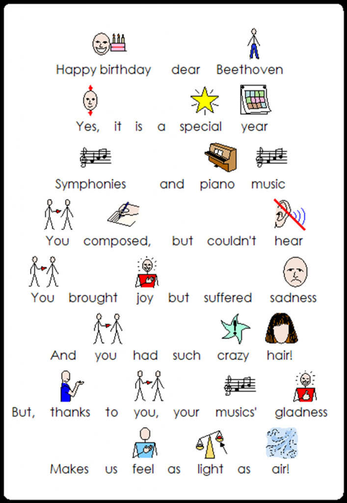 Beethoven Words with symbols